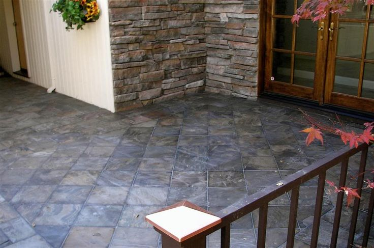 Slate Porch Tiles Laid On Diagonal Exterior Inspiration