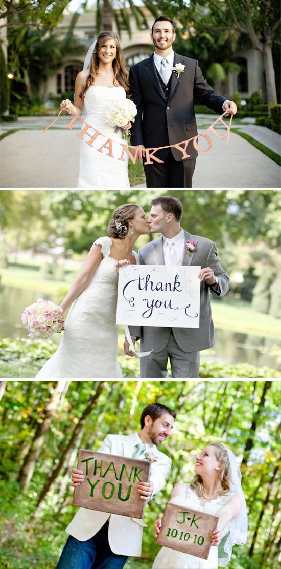 thank you sign for post wedding thank you cards
