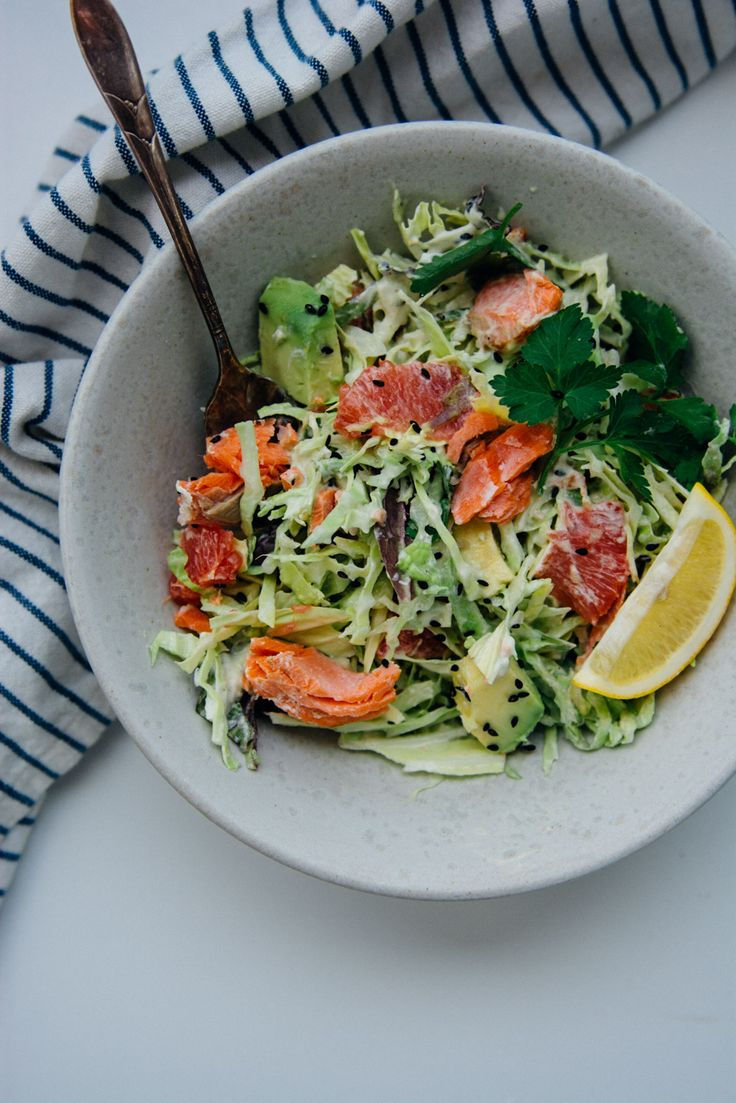 Pan-roasted salmon with citrus cabbage salad {New Year Reset Day 22}