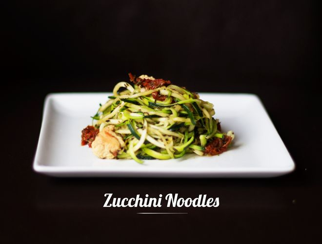 Zucchini Noodles | Wheat free, gluten free, low carb, model-proof lunch and dinner idea
