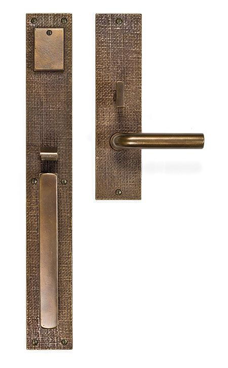 Bronze Door Levers #36 - Sun Valley Bronze Burlap Entry Set