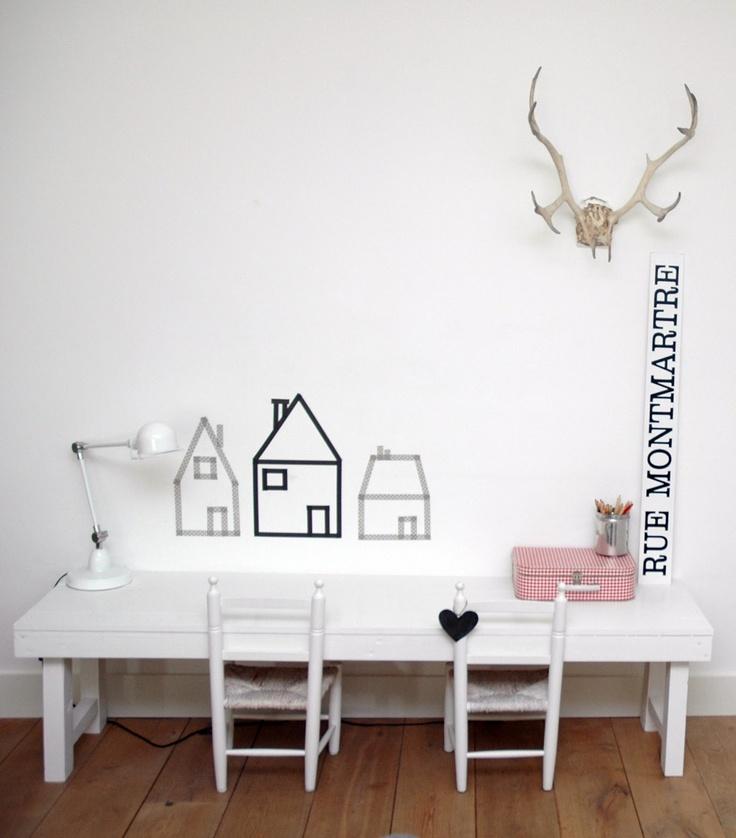 tavolo bianco doppio