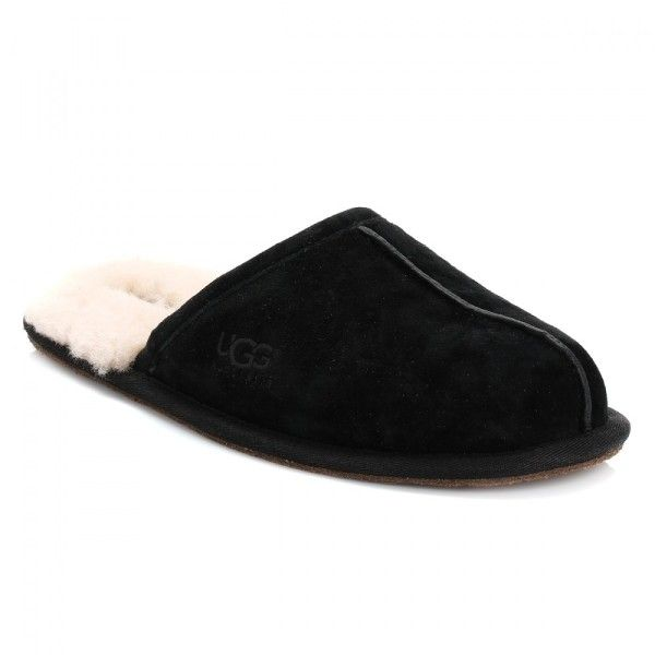 Scuff Mens Black Suede Sheepskin Slippers ($86) ❤ liked on Polyvore featuring men's fashion, men's shoes, men's slippers, mens black slippers, mens black shoes, mens slippers, ugg mens shoes and mens sheepskin shoes