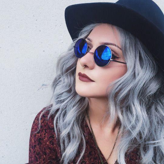grey & blue // pastels