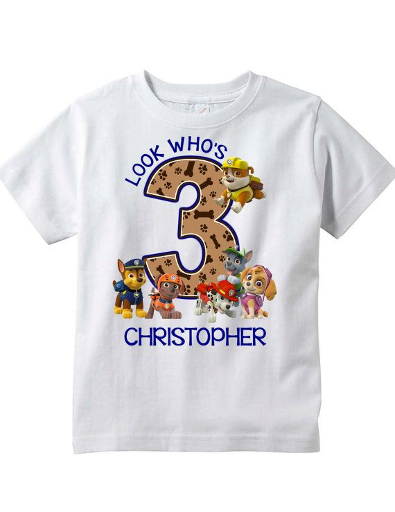 Paw Patrol Personalized Birthday Shirt