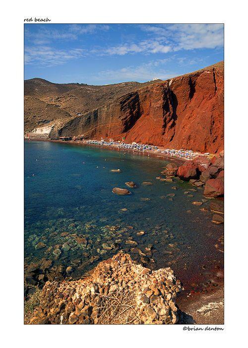 The red beach, Santorini