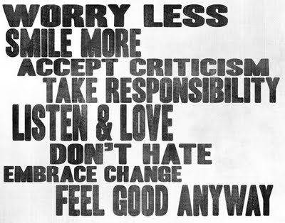Worry less #typography #motivation #life