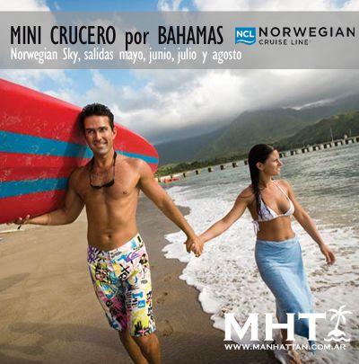 Mini #Crucero por las Bahamas desde #Miami!Con NCL recorriendo las playas del Caribe.
