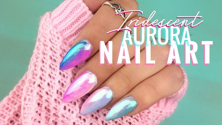 Iridescent Ombré Aurora Nail Art ~ I did this iridescent ombré aurora nail art to go with my hen party outfit! I wanted maximum unicorn pastel rainbow nails & I love them! Enter t... mermaidgossip.com/iridescent-ombre-aurora-nail-art/