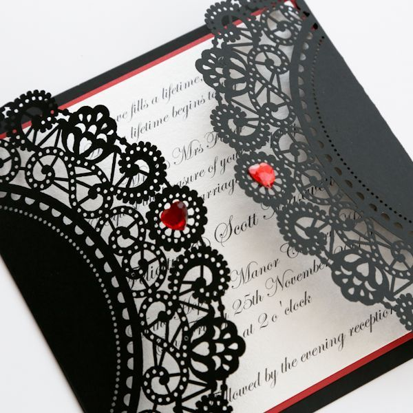 открытка в стиле готика скрапбукинг