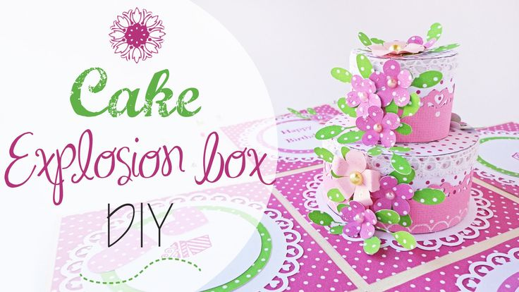 tuto: Explosion Box Torta Compleanno - ENG SUBS B-day cake explosion box...