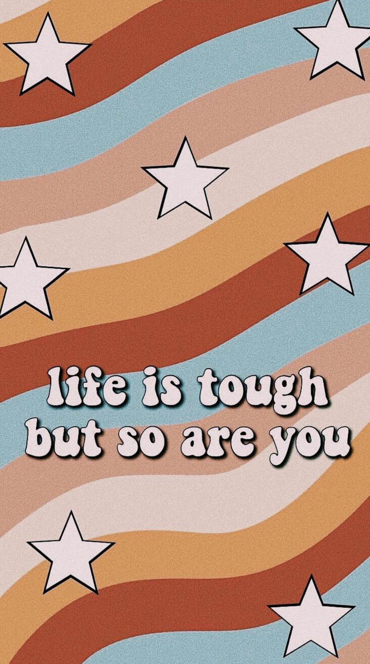 Typography Quotes Cute Stars Retro Words Wallpaper Cute Quotes Quote Backgrounds
