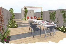 Het avondtuintje eigen huis tuin ideas for the house pinterest tuin - Lay outs rond het huis ...