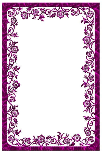 Large Dark Pink Transparent Frame