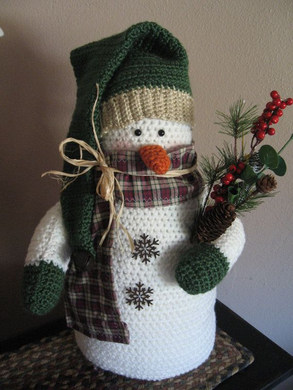 ***This snowman will be custom made for you so please indicate at the time of checkout (in notes to seller) what colors you would like yours