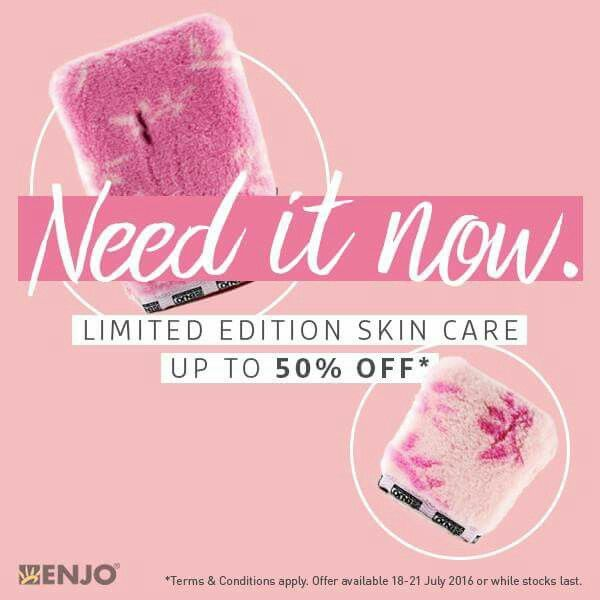 ONLINE EXCLUSIVE SALE ALERT   Limited Edition Skin Care up to 50% OFF*  The Pink Pack 45% OFF - $79  Face Glove 50% OFF $17.50  Body Glove 35% OFF $35