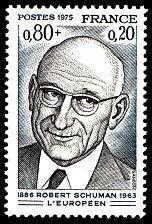 Robert Schuman 1886-1963 - L´Européen - Timbre de 1975
