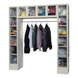 Clearview metal locker and wardrobe unit