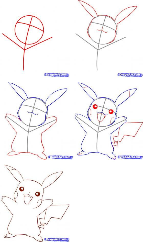 como dibujar a pikachu - Buscar con Google