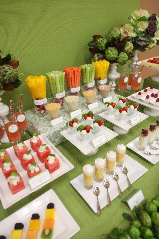 fruit & veggie snack table. I gotta start getting my cook on! @Alicia T Krabbe Teach a newbie some skills! lol