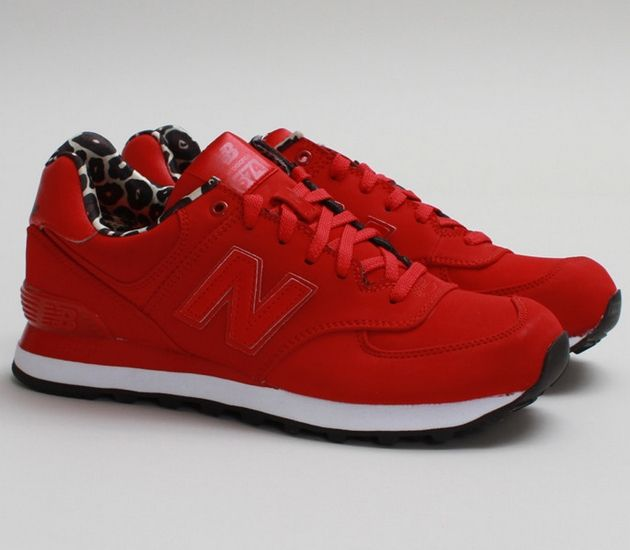 new balance shoes red. new balance 574: red/print shoes red b