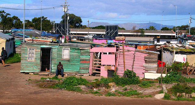 Houses in Khayelitsha Township, Cape Flats, Cape Town, South Africa. Photo: © A…