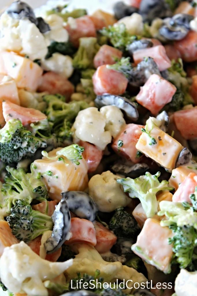 Mom's Favorite Veggie Salad. This recipe is a crowd pleaser that is a perfect side for any occasion.