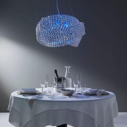 Superior Diamante Swarovski Pendant By Marchetti With LED Option Nice Look