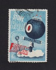Denmark Radio Advertising Poster Stamp Cinderella