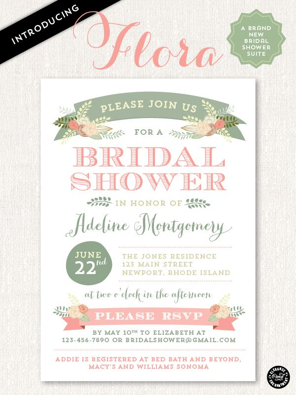 Flora Bridal Shower Invitation