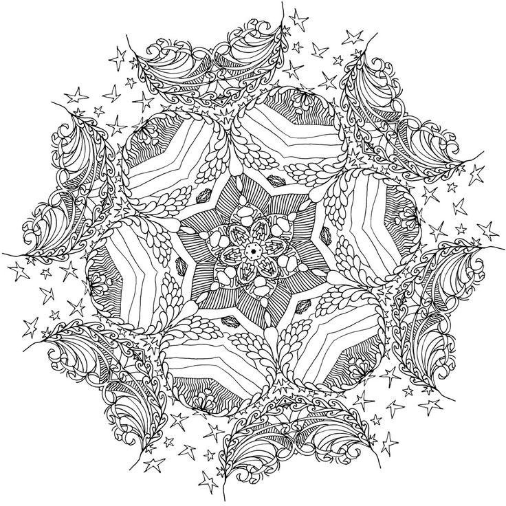 Heal Mandala Coloring book for adults Pattern 9