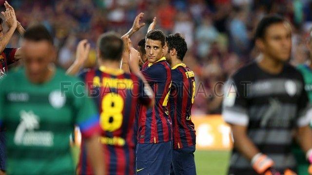 FC Barcelona 7-0 Levante | FC Barcelona, Tello y compañeros de equipo. [18.08.13]