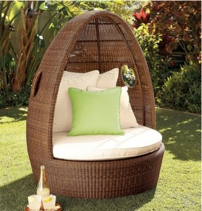 I can see myself hiding from the kids in this Wicker Chair