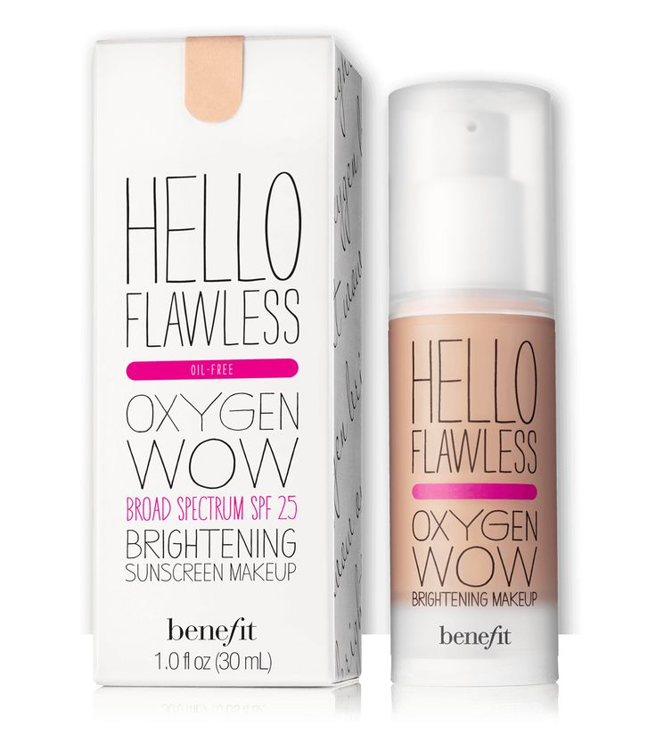hello flawless! oxygen wow liquid foundation | Benefit Cosmetics. Ivory Fair Believe in Me-Winter