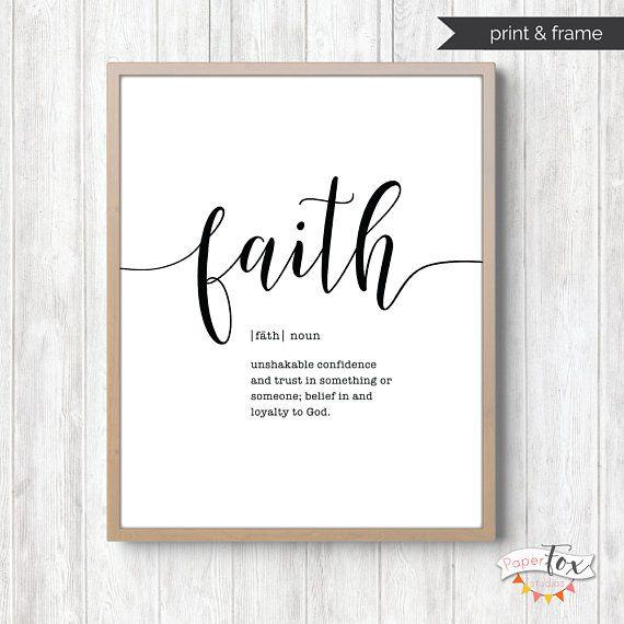 Faith Sign Printable Wall Art Scripture Wall Art Farmhouse Etsy Scripture Wall Art Wall Decor Quotes Wall Printables