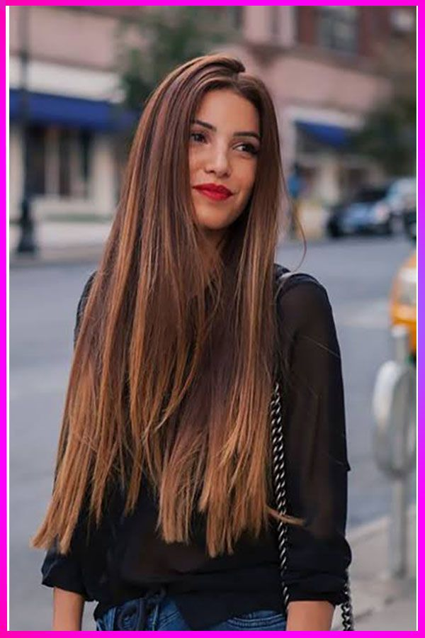 Trendy Long Length Straight Brown Hairstyles Ideas For Womens With Round Face Thick Hair Styles Long Thick Hair Long Brunette Hair