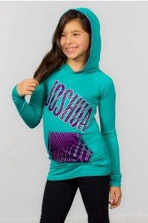 Fashion Hoodie, turquoise and purple, Joshua's  style