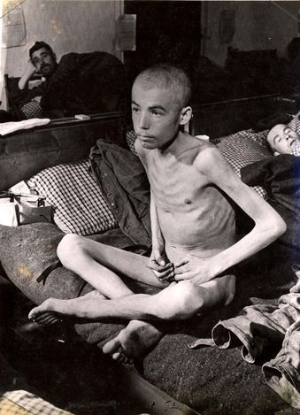 Jews weren't fed allot in concentration camps some died because starvation rations of bread and small servings were barely able to keep the Jews alive.