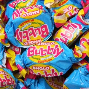 Anglo Bubbly Bubble-gum - These are so tasty that you won't be able to put the bag down. A bubble competition is the way we recommend to eat these little parcels of joy!