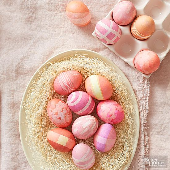 Skip the expense of store-bought kits and create beautiful Easter eggs with items you have around your house. These 8 simple hacks will change the way you decorate your Easter eggs forever! #easter #eastereggs #easterdecor