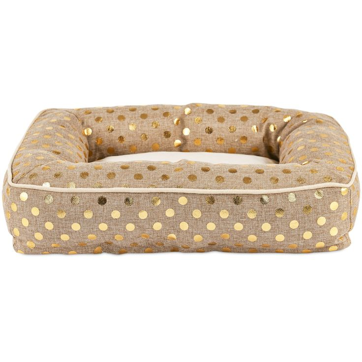 Treat your pup to an extravagantly indulgent sleeping surface with the Harmony Memory Foam Nester Dog Bed. Watch as this gilded bolster dog bed from the Harmony Urban Luxe Collection cradles them into some much deserved Zs.
