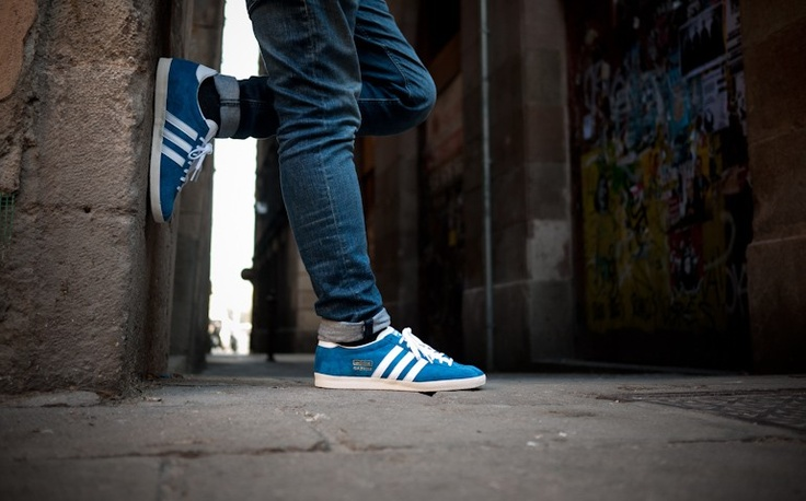 Adidas Gazelle Og Blue And Black