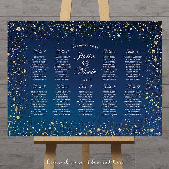 Afficher un graphique de coin nuit étoilée pour aider vos invités de mariage …