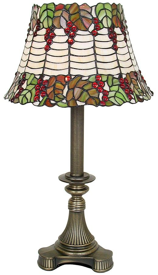 This Beautiful Tiffany Style Table Lamp Reminds Me Of A Holly Bush So We  Named It