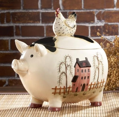 A Friendly Colorful Pig Will Add A Bit Of Style To Any Kitchen. 9