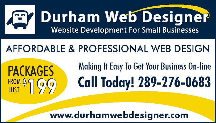 Durham Web Designer Ad Design