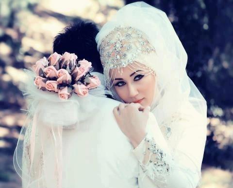 Just beautiful!! Muslim Hijabi bride