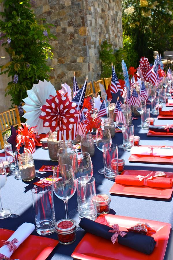Beautiful July 4th Party Tablescape Art De La Table