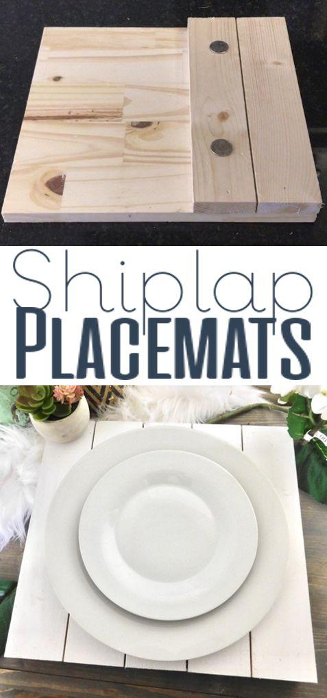 Shiplap Placemats Home Kitchen Decor