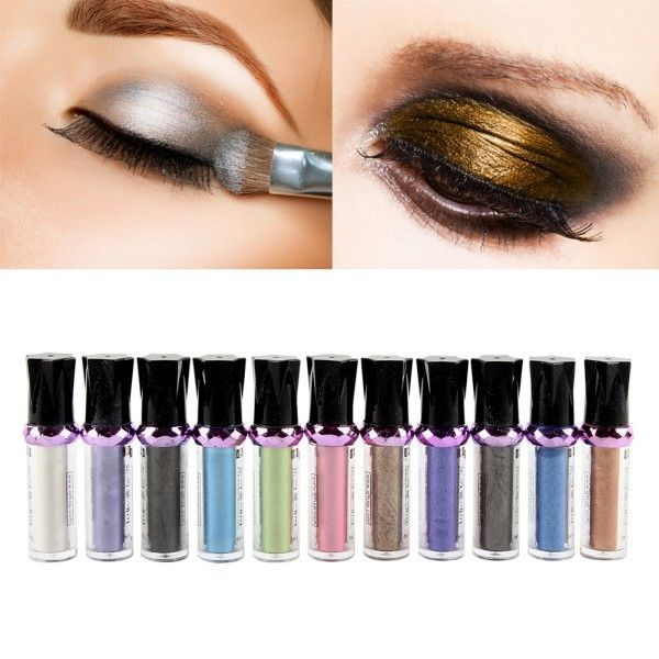 Only $0.61 , Hot Fashion Hot Single Roller Color Eyeshadow Glitter Pigment Loose Powder Eye Shadow Makeup Hot